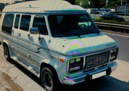 furgoneta gmc chevy van alquiler vehiculos escena rodajes videoclips peliculas cine catalogos fotos eventos spots sealand motion